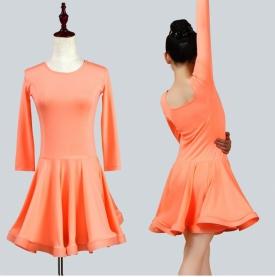 Платье рейтинговое персиковое